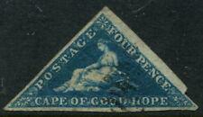 CAPE OF GOOD HOPE - 1853 QV 4d 'DEEP BLUE' FU SG4 Cv £170 [A9470]