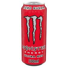NEW MONSTER ENERGY ULTRA RED DRINK 1 x 500 ml FULL CAN ZERO SUGAR