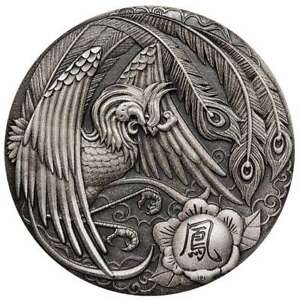 2018 Phoenix 2oz Silver Antiqued High Relief Coin