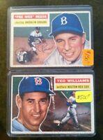 HUGE LOT (20) ALL VINTAGE 50's-70's Stars SP DP RC VAR Stars HOF Baseball Cards