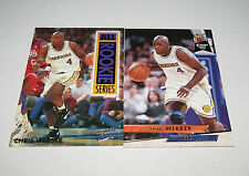 1993/94 Chris Webber GS Warriors 2-Card Fleer Ultra Rookie Series Lot Mint Cond