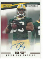2012 Panini Rookies & Stars Signatures #d 903/999 Nick Perry #199 Rookie Auto