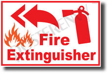 Fire Extinguisher Left - NEW Laboratory or Classroom Fire Safety POSTER (he085)
