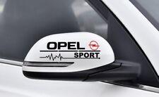 2x Opel Sport Spiegelaufkleber Autoaufkleber Decal Tuning Shocker JD;M