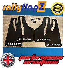 Nissan JUKE Nismo Mudflaps Mud Flaps Set of 4 Black Juke Logo White (4mm PVC)
