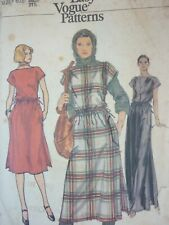 VINTAGE 1970'S VOGUE LOOSE FITTING DRESS PINAFORE BATEAU NECKLINE SEWING PATTERN