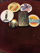 Lot Of 6 Vintage Buttons Badges Pinbacks Dr Breaker Triumph Humbug Alberta
