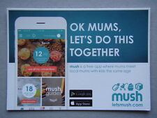 Mush App Ok Mums Let's Do This Together Brochure Postcard