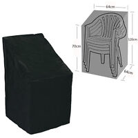 Waterproof Stacking Chair Dust Rain Cover Outdoor Garden Patio Furniture Cover