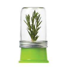 JarWare Mason Jar Herb Saver #82603, Green, BPA Free for Canning Jars