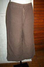 Pantalon court Pantacourt 100% lin marron ONE STEP 42/44 ta4