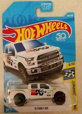 2018 Hot Wheels '15 Ford F-150 4x4 ~ White ~ BOX SHIP FREE