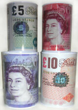 £5 £10 £20 £50 Pound Note Design Kids Money Box Tin Saving Cash PIggy Bank Box N