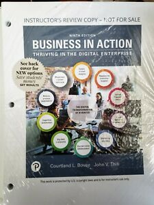 Business in Action 9E Courtland Bovee Thill 9th BRAND NEW Looseleaf Edition