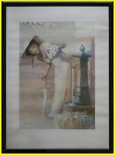 Sposa in primavera alla fontanella Fotolitografia Innocenzo Melani certificato