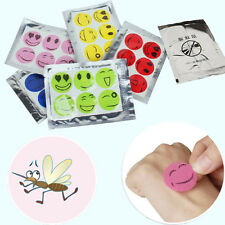 60pcs/ Set Smiley Insect Mosquito Repellent Stickers Patches Citronella Oil AU