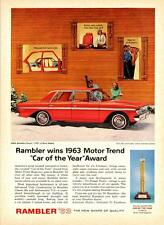 Print.  Red 1963 Rambler Classic 770 auto advertisement