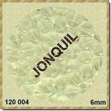 120004***40 perles en verre, TOUPIES 6mm JONQUIL