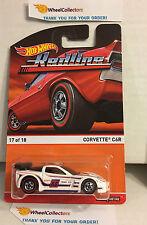 Corvette C6R * WHITE * Hot Wheels 2016 Redline Heritage * D10