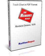 Milwaukee Road Montana Division track chart 1976 - PDF on CD - RailfanDepot