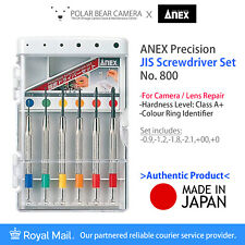 ANEX Screwdriver No.800 Set JIS JCIS Professional Tools for Camera/Lens Repair