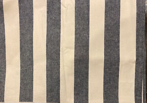 Pottery Barn Wheaton Wide Stripe Table Runner 18 x 108 - Sailor Blue - Rare