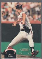 GREGG OLSON 1992 Topps Stadium Club #293 Orioles Error Oddball Misaligned Foil