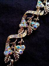 Vintage Coro rhinestone jewelry full parure set ca. 1940's