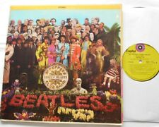 THE BEATLES Sgt Pepper's Lonely CANADA 1969 CAPITOL GREEN TARGET RARE Reissue LP