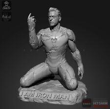 "1/24 Resin Figure ""I'm Iron Man"" Unpainted Unfinished Model"
