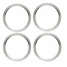 "14"" Wheel Trim Rim Ring Wheel Rings Tire Wheel Steel Trim Stainless - SET of 4"