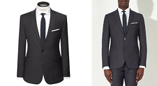 Kin by John Lewis Riley Micro Check Slim Fit Suit Jacket Charcoal Size 42L £109