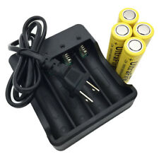 4X18650 Li-ion Battery 3.7V 9800mAh Rechargeable Flat Top &4.2V US Plug Charger