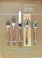 Reed & Barton Thompson 20 Piece Flatware Set 18/10 Stainless Steel Service for 4