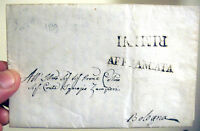 1839 PREFILATELICA DA VERUCCHIO AL CONTE IGNAZIO ZAMPIERI A BOLOGNA 'AFFRANCATA'