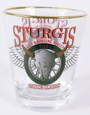 "Sturgis Motor Classic 61st Annual Rally 2001 2.25"" Collectible Shot Glass"