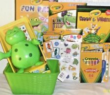 NEW CRAYOLA ART EASTER TOY GIFT BASKET birthday TOYS LEARNING SCHOOL SUPPLIES