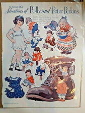 Paper Dolls Adventures of Polly Peter Perkins Old Woman In A Shoe Gertrude Kay