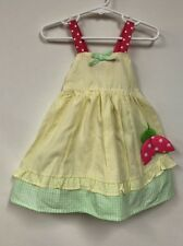 NWT Little Girl's 2 piece Yellow And Green Dress Set Size 24M By Sol Play