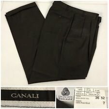 Canali Mens 36 Pants Slacks Brown 100% Pure Wool Made In Italy