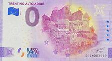 BILLET 0  EURO TRENTINO ALTO ADIGE  ITALIE  2021  NUMERO DIVERS