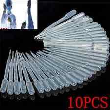 10pcs 3ML Clear Disposable Plastic Eye Dropper Set Transfer Graduated Pipettes