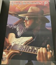 "hank williams jr Signed RARE Five O 1985 Promotional Poster 23"" X 35"""