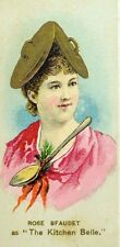 1880's Rose Bfaudet Actress Fancy Dress Ball Club Duke's Cigarette Card F88