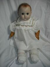 """VINTAGE 18"""" 1940's American Character Baby Doll Stuffed Rubber Limbs"""