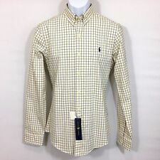 Ralph Lauren Mens Shirt S Slim Fit Dress White Plaid Long Sleeve