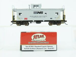 HO Scale Atlas 1309-3 NS Norfolk Southern Research Cupola Caboose #51 - RARE