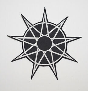 """slipknot pentagram 11""""x11"""" patch jumpsuit mask corey jumpsuit knotfest"""