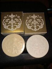 2 Avon Ultra Sheer Powder Containers Vintage With Boxes Empty One W/sifter&puff