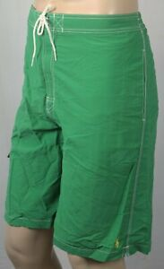 Polo Ralph Lauren Green Swimsuit Trunks Shorts Yellow Pony NWT